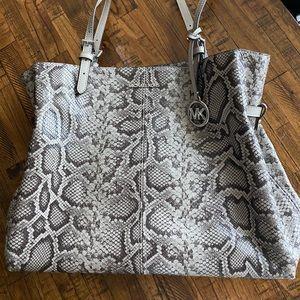 Michael Kors Lenox Leather snake skin bag